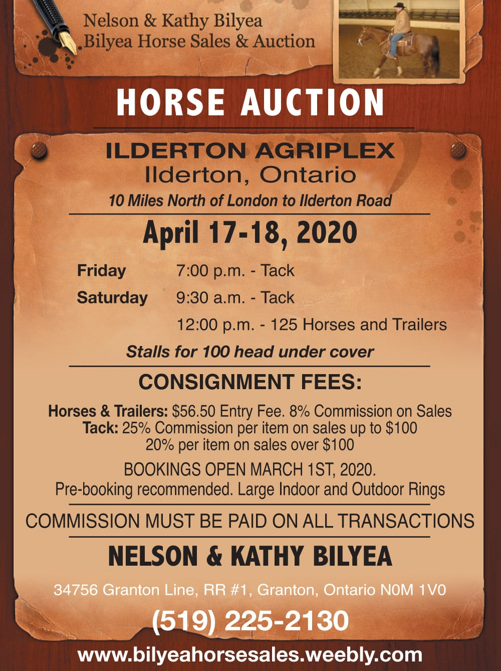 Bilyea Horse Auction