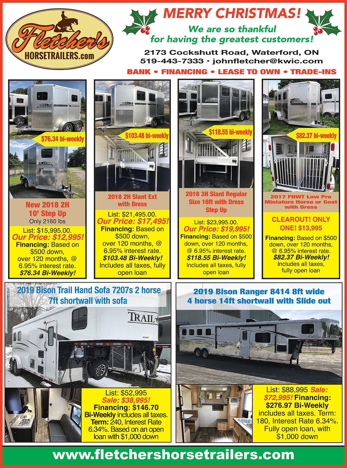 Fletcher's Horse Trailers