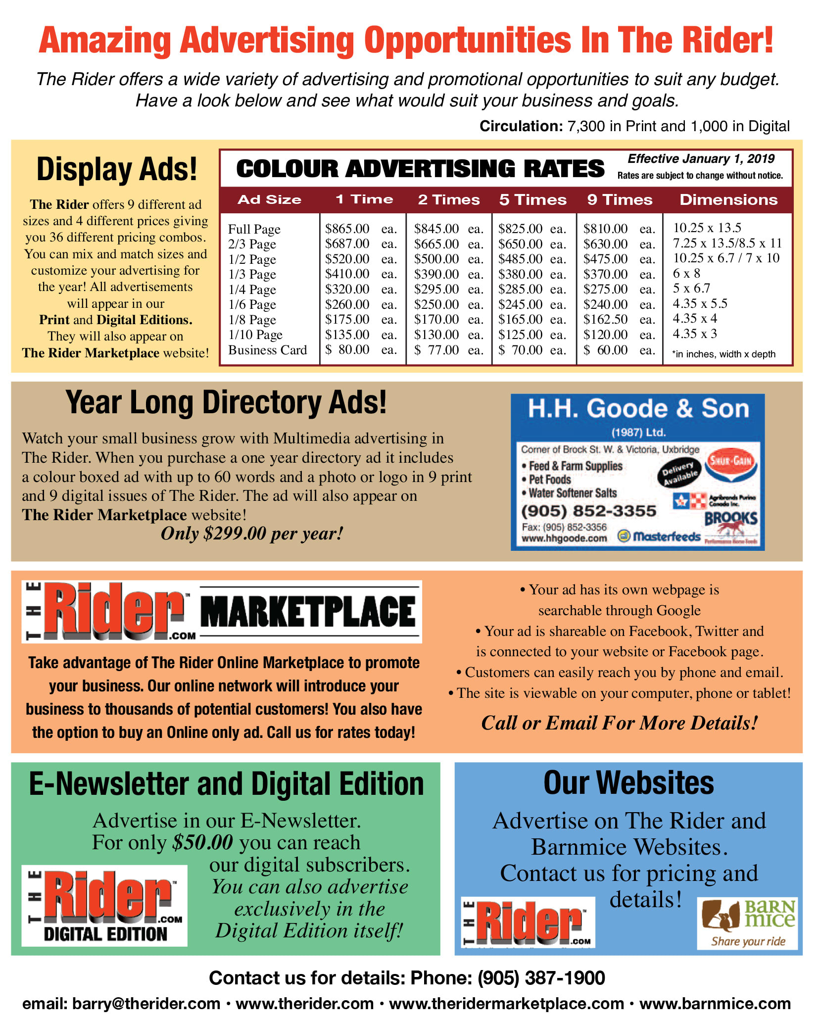 2019 TheRider.com Advertising Rate Card