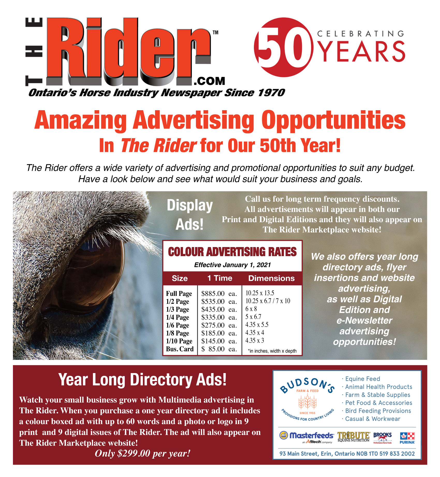 2021 TheRider.com Advertising Rate Card