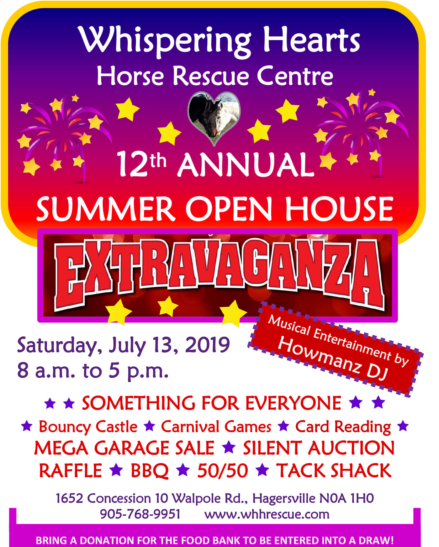 Whispering Hearts Horse Rescue Open House ad