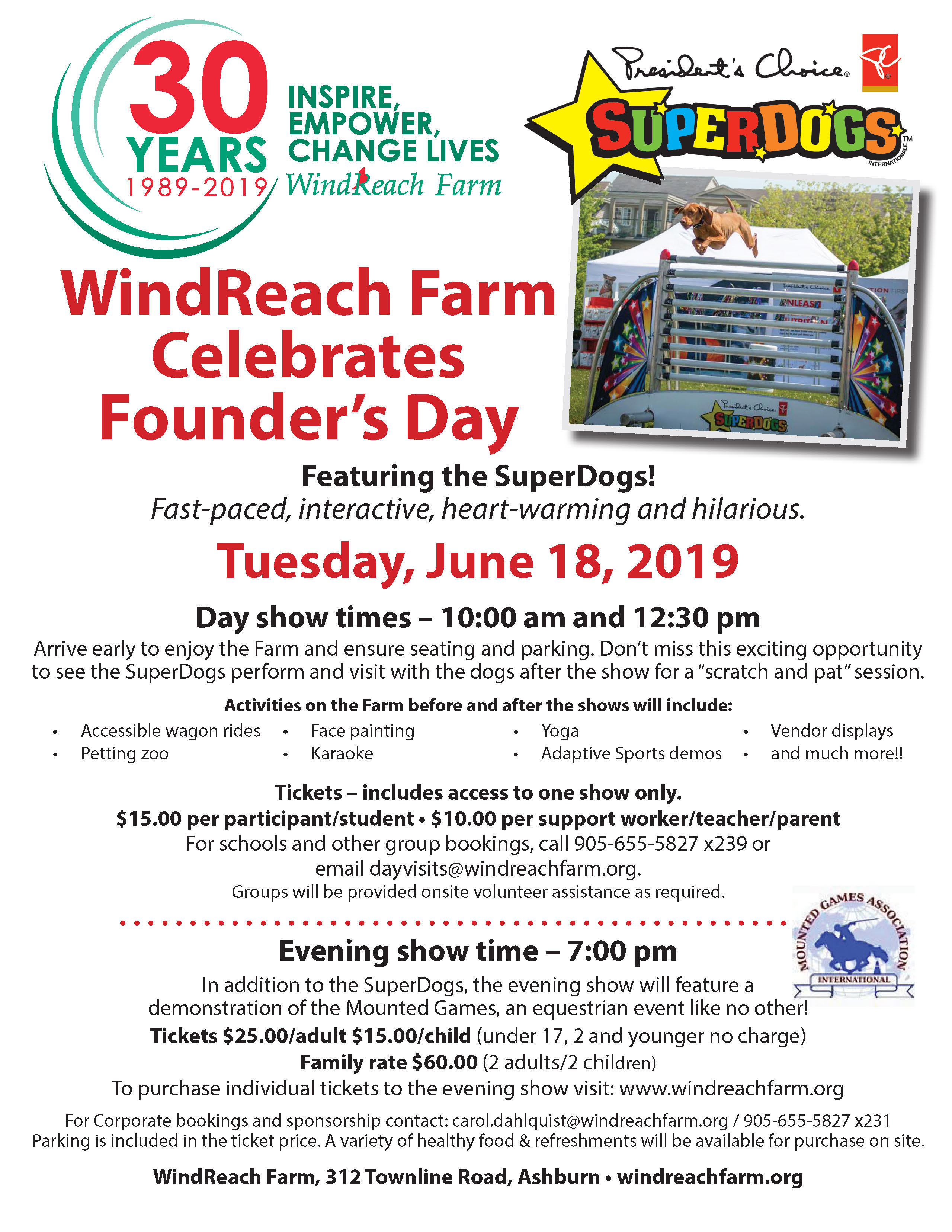 Windreach Founder's Day