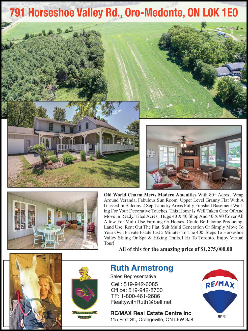 ruth armstrong farms for sale