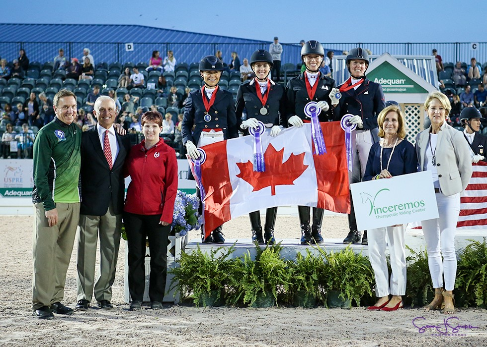 silver for canadian dressage team in florida